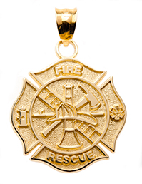 Firefighter jewelry gold pendant maltese cross nick lannans blog firefighter jewelry gold pendant maltese cross mozeypictures